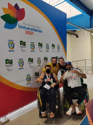 Xanxerenses são medalhistas na Paralímpiada Universitária